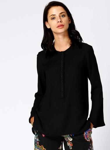 Beymen Studio Beymen Studio Boncuk İşlemeli Siyah Bluz Siyah